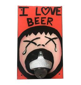 I Love Beer Bottle Opener