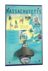 Massachusetts History Bottle Opener