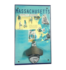 Massachusetts History Bottle Opener