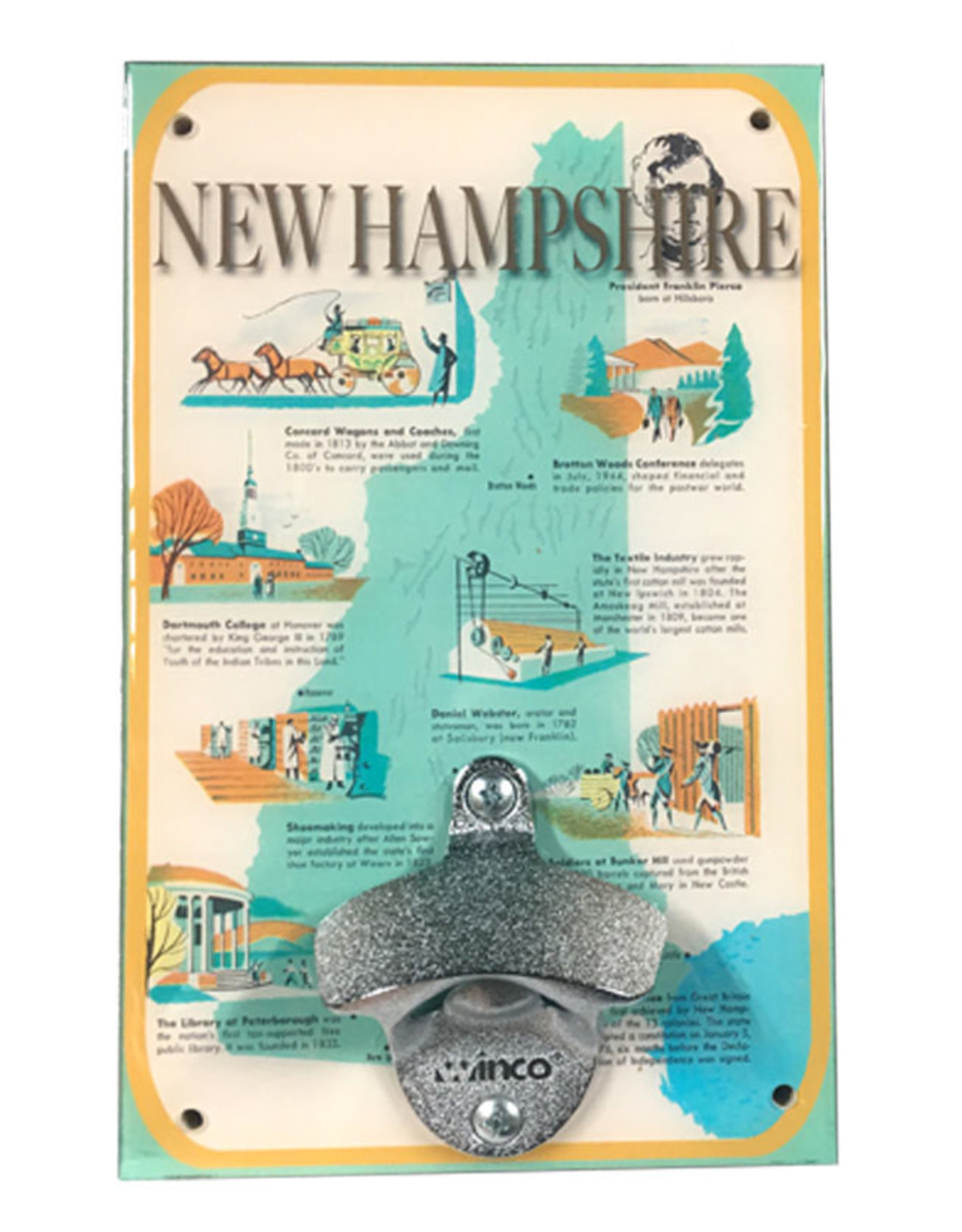 New Hampshire History Bottle Opener