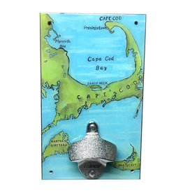 Cape Cod (Painted Map) Bottle Opener