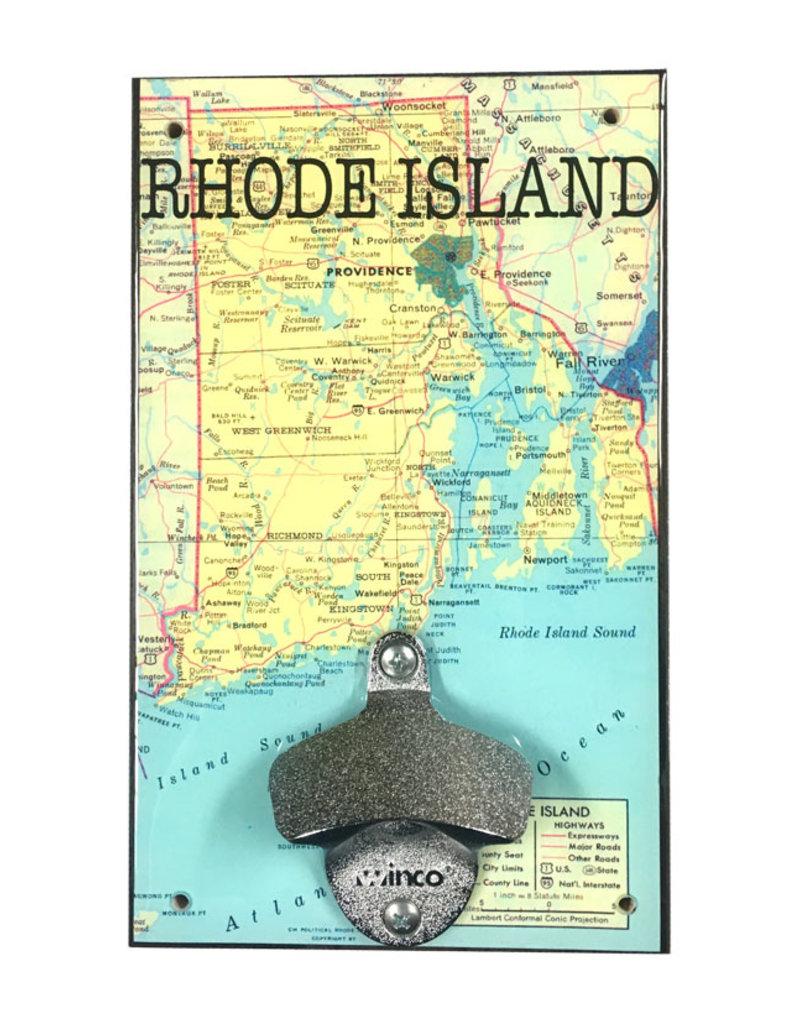 Rep-Air Rhode Island Map Bottle Opener