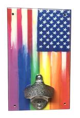 Rep-Air Rainbow Flag Bottle Opener