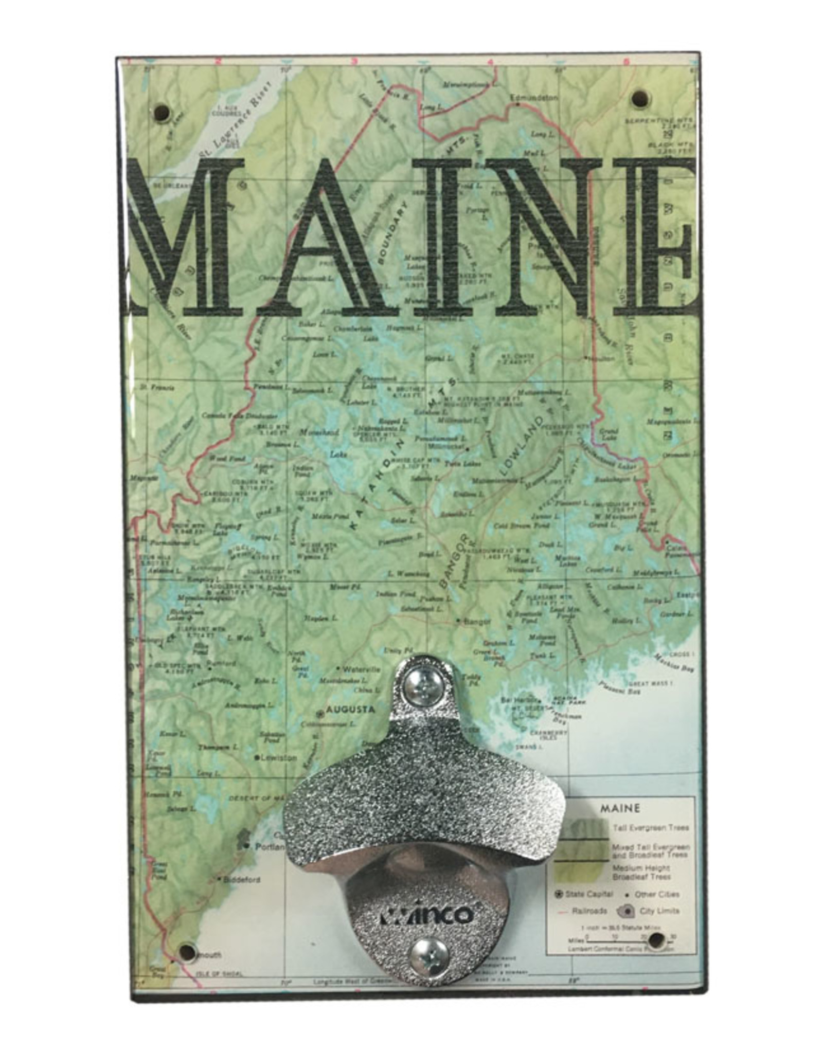 Maine Map Bottle Opener