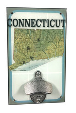 Rep-Air Connecticut Map Bottle Opener