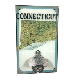 Connecticut Map Bottle Opener