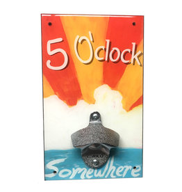 5 O'Clock Somewhere Bottle Opener