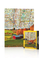 New York Puzzle Company Northeast US Map Mini - 100 Piece Puzzle