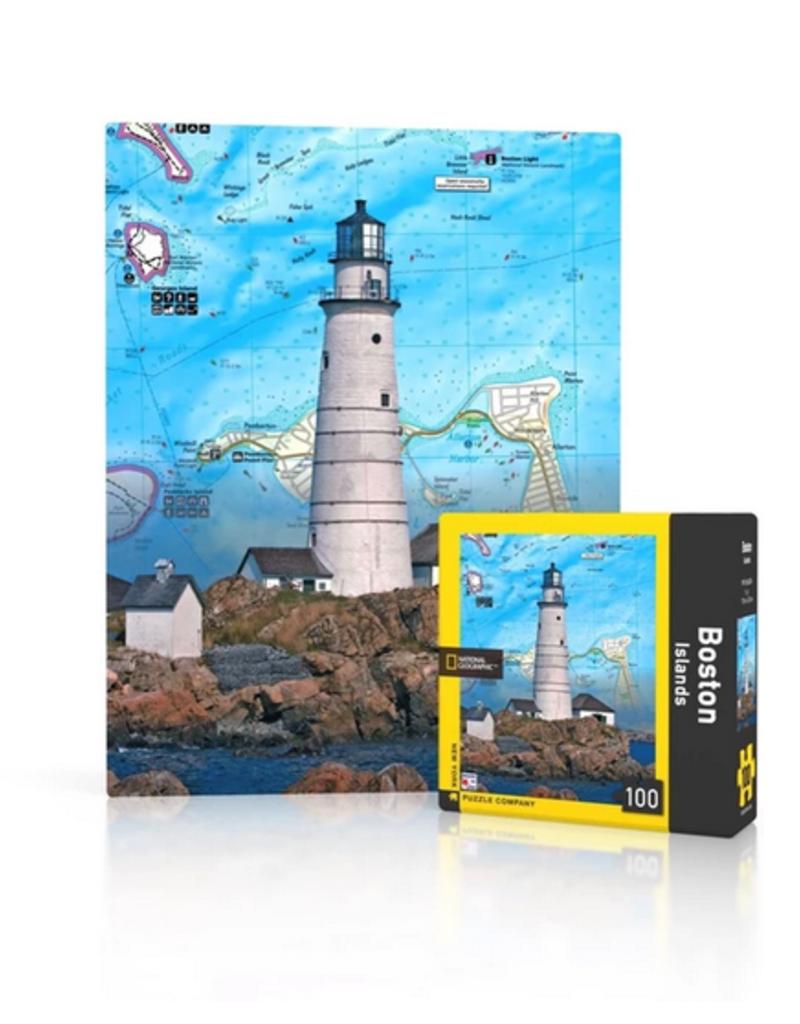 New York Puzzle Company Boston Islands Mini - 100 Piece Puzzle