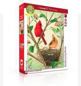New York Puzzle Company Northern Cardinals - 500 Piece Puzzle