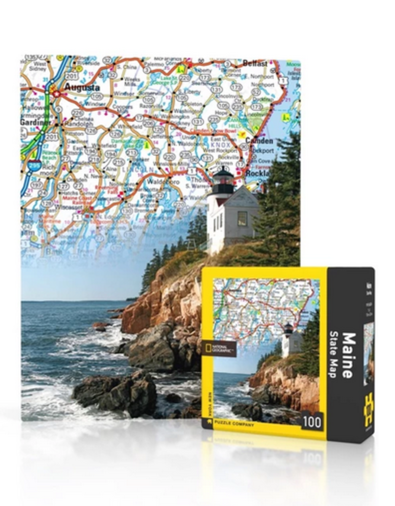 New York Puzzle Company Maine Map - 100 Piece Puzzle