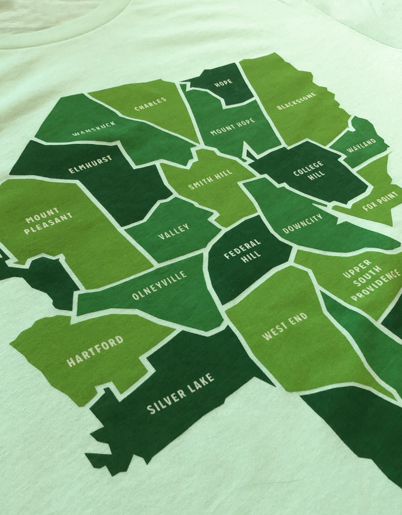 Parched Providence Map T-shirt