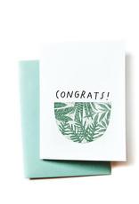 Anna Tovar Congrats! (Plants) Greeting Card