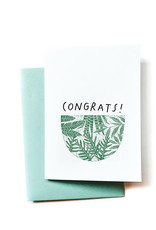 Congrats! (Plants) Greeting Card