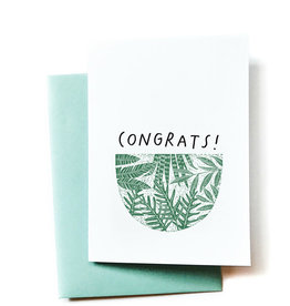Anna Tovar Congrats! (Plants) Greeting Card