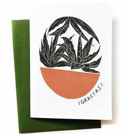 Anna Tovar Gracias! (Agave) Greeting Card