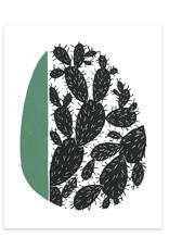 Anna Tovar Cactus Linocut Print