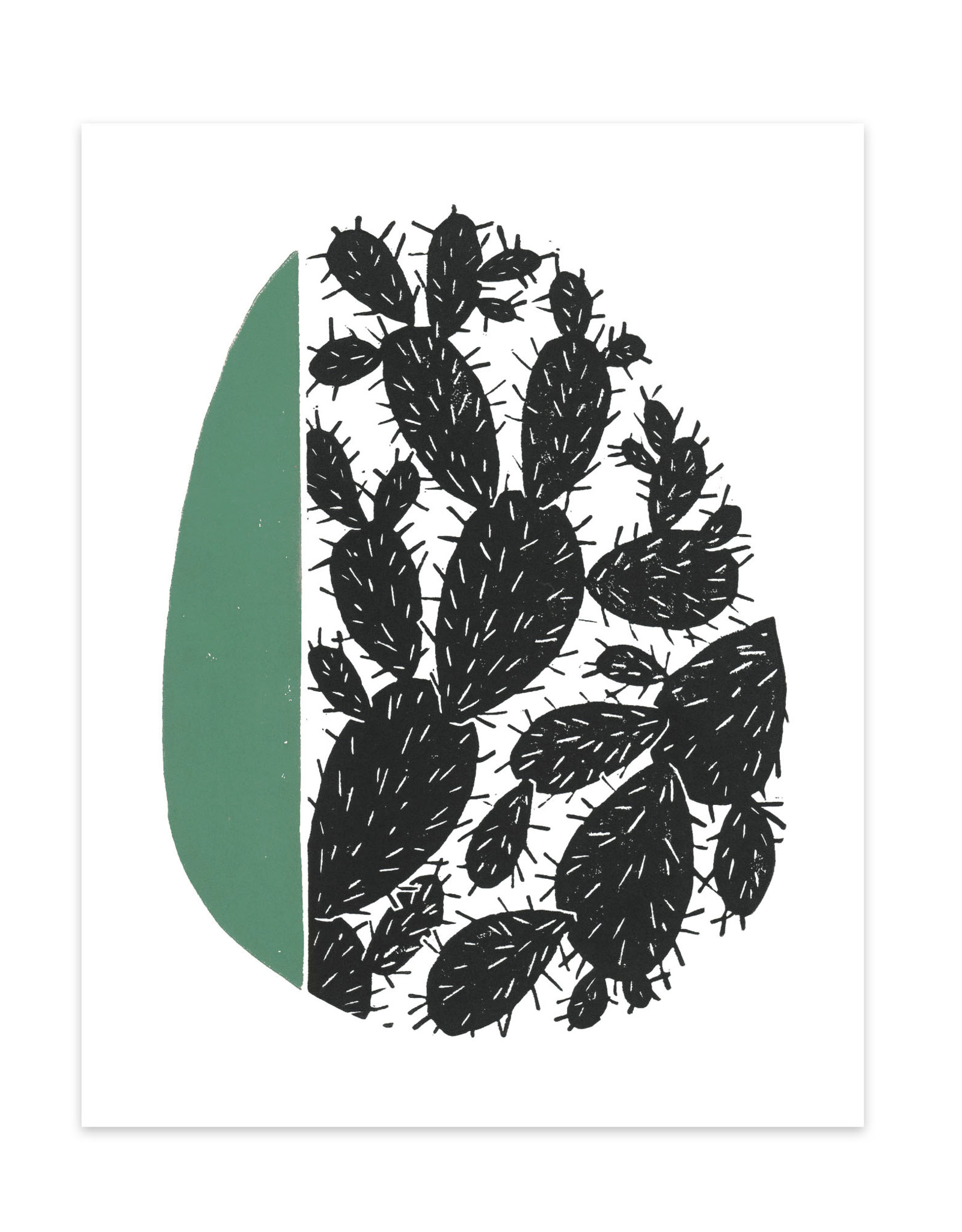 Cactus Linocut Print