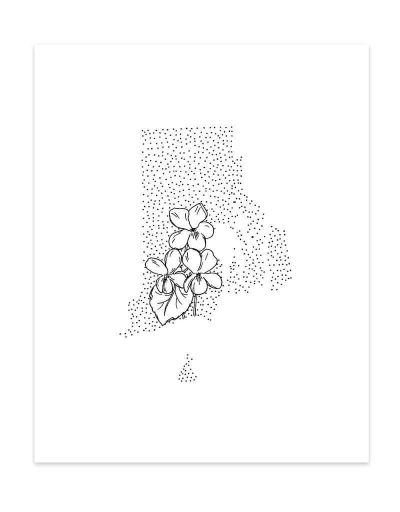 Anna Tovar Rhode Island + Violets Print