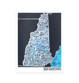 Brainstorm New Hampshire Map Print