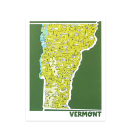 Brainstorm Vermont Map Print
