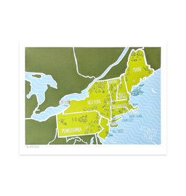Brainstorm American Atlas - Northeast Print