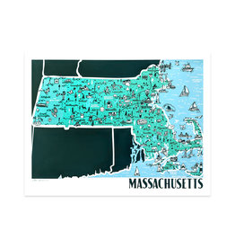 Brainstorm Massachusetts Map Print
