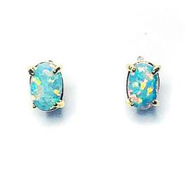 Adorn512 Opal Stud Earrings