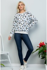 All Over Cactus Print Sweatshirt