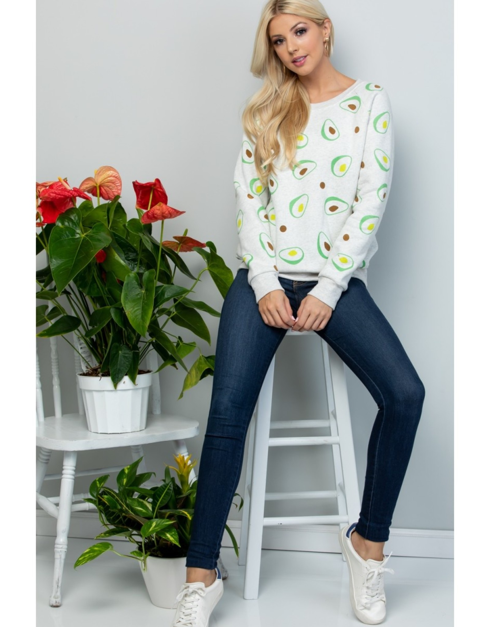 All Over Avocado Print Sweatshirt