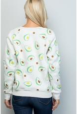 LA Soul All Over Avocado Print Sweatshirt
