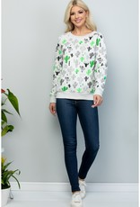Animated Cactus Print Sweatshirt