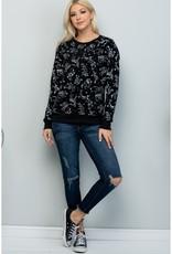 LA Soul Celestial Animal Print Sweatshirt