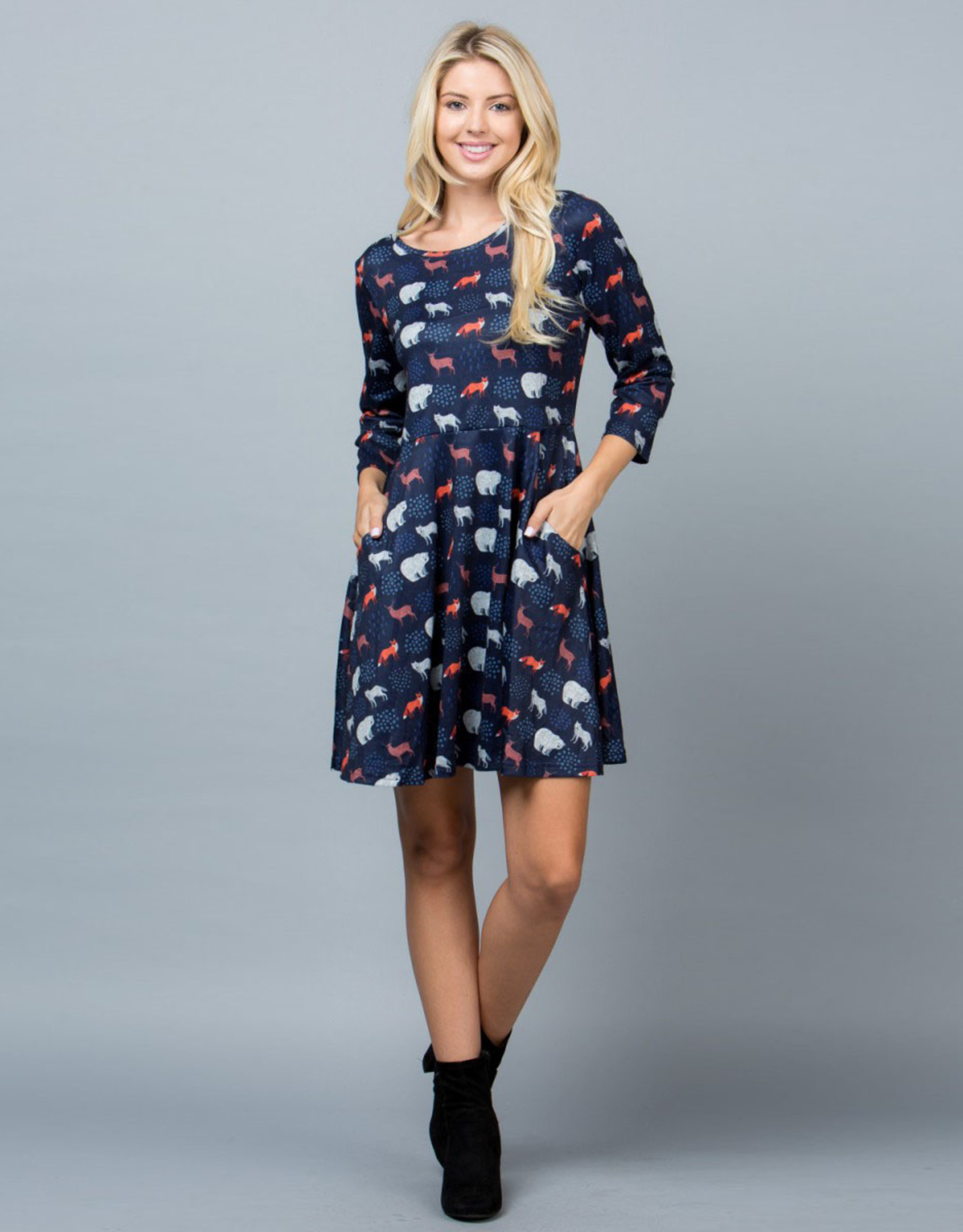 Forest Animals Tunic Dress