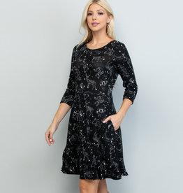 Celestial Animal Print Tunic Dress