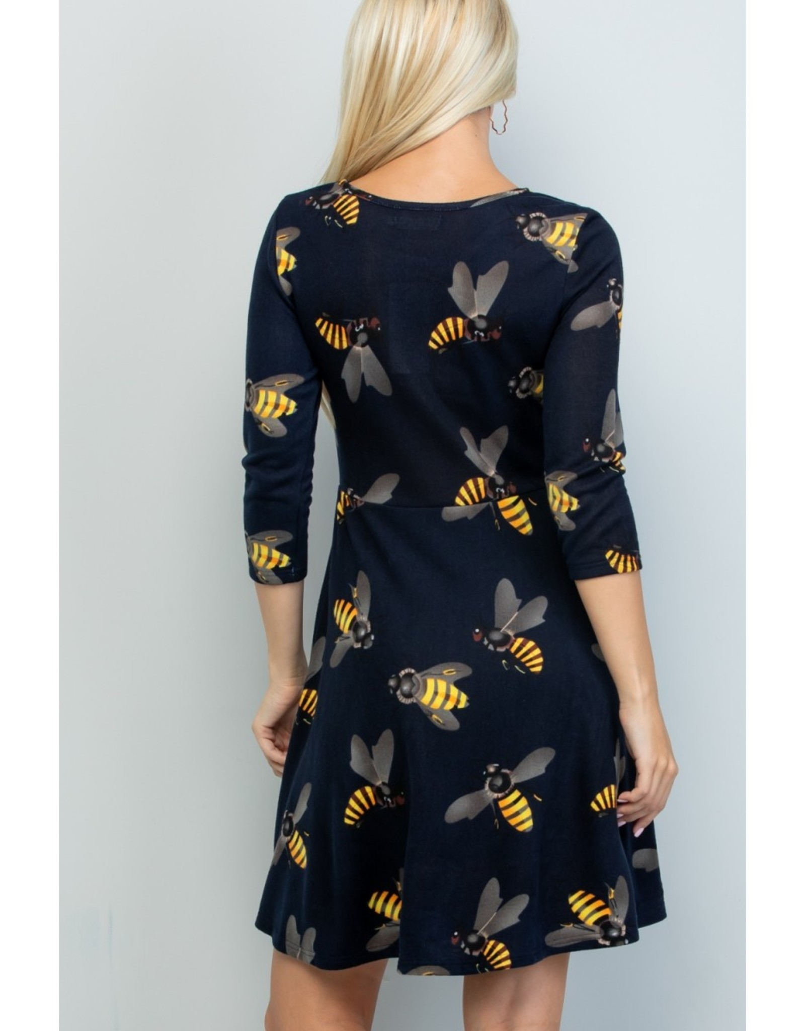 Big Bee Print Tunic Dress