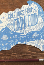 Cape Cod Die Cut Postcard