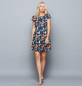 LA Soul Woodland Forest Animals Cap Sleeve Dress