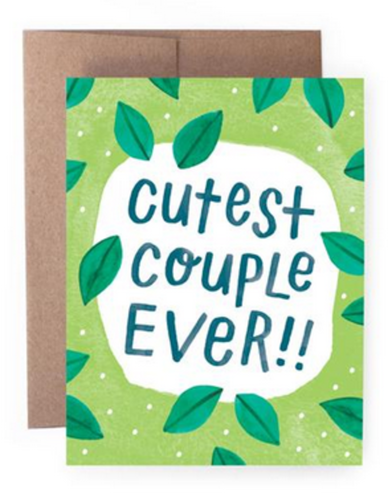 Handzy Shop & Studio Cutest Couple Ever!! (leaves) Greeting Card