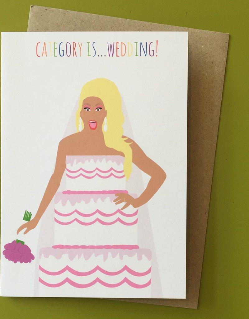 Meet Me in Shermer Category Is... Wedding! (RuPaul) Greeting Card