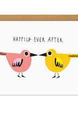 Happily Ever After Lovebirds Greeting Card