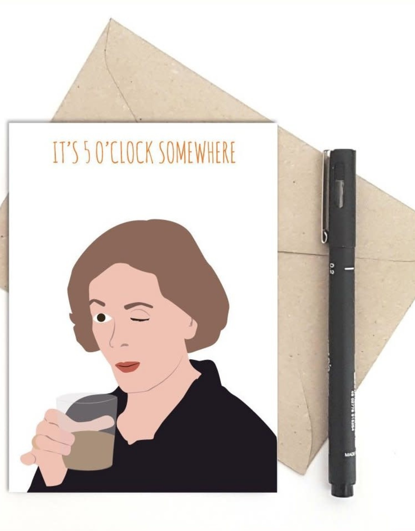 Meet Me in Shermer 5 O'Clock Somewhere (Arrested Development) Greeting Card