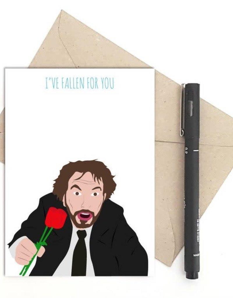 Meet Me in Shermer Fallen for You (Die Hard) Greeting Card