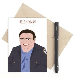 Meet Me in Shermer Hello Newman (Seinfeld) Greeting Card
