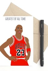 Greatest of all Time (Michael Jordan) Greeting Card