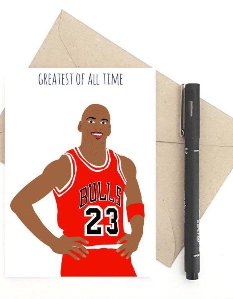 Meet Me in Shermer Greatest of all Time (Michael Jordan) Greeting Card