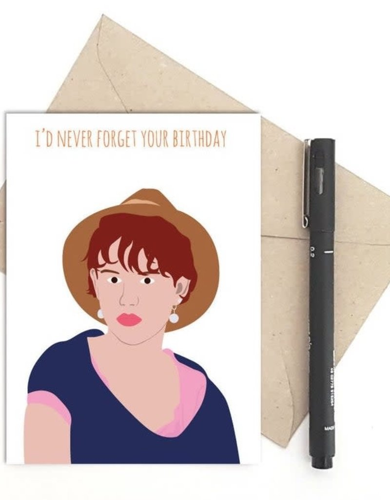 Meet Me in Shermer Never forget your Birthday (Sixteen Candles) Greeting Card