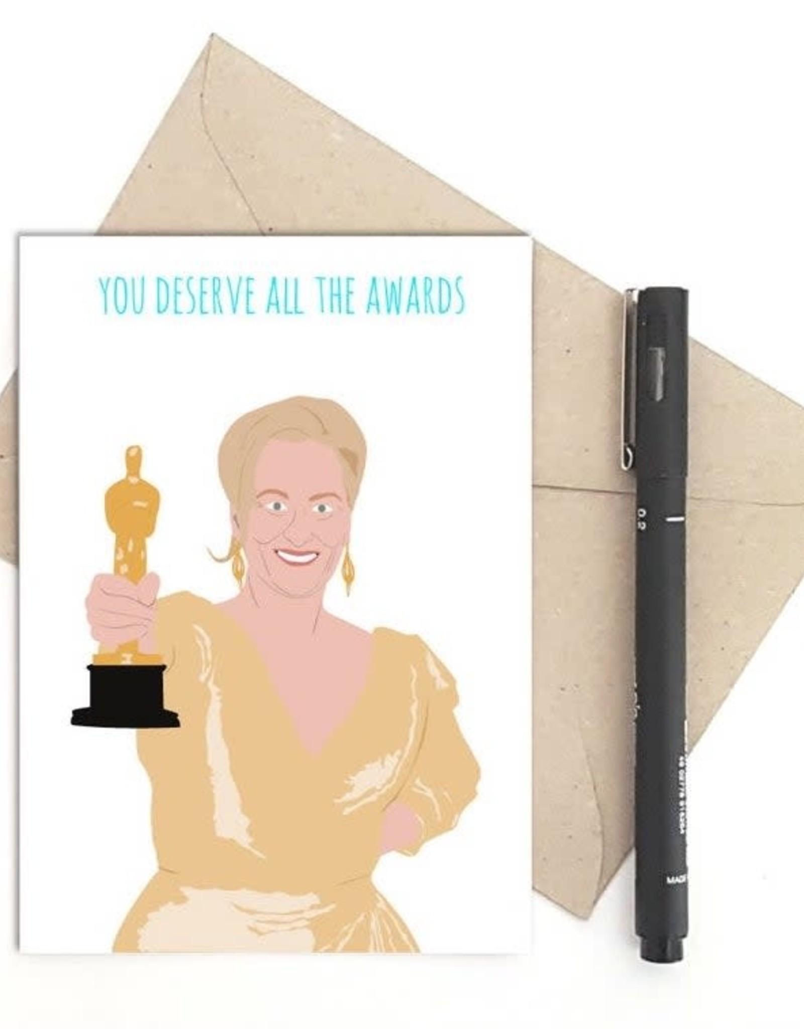 All the Awards (Meryl Streep) Greeting Card
