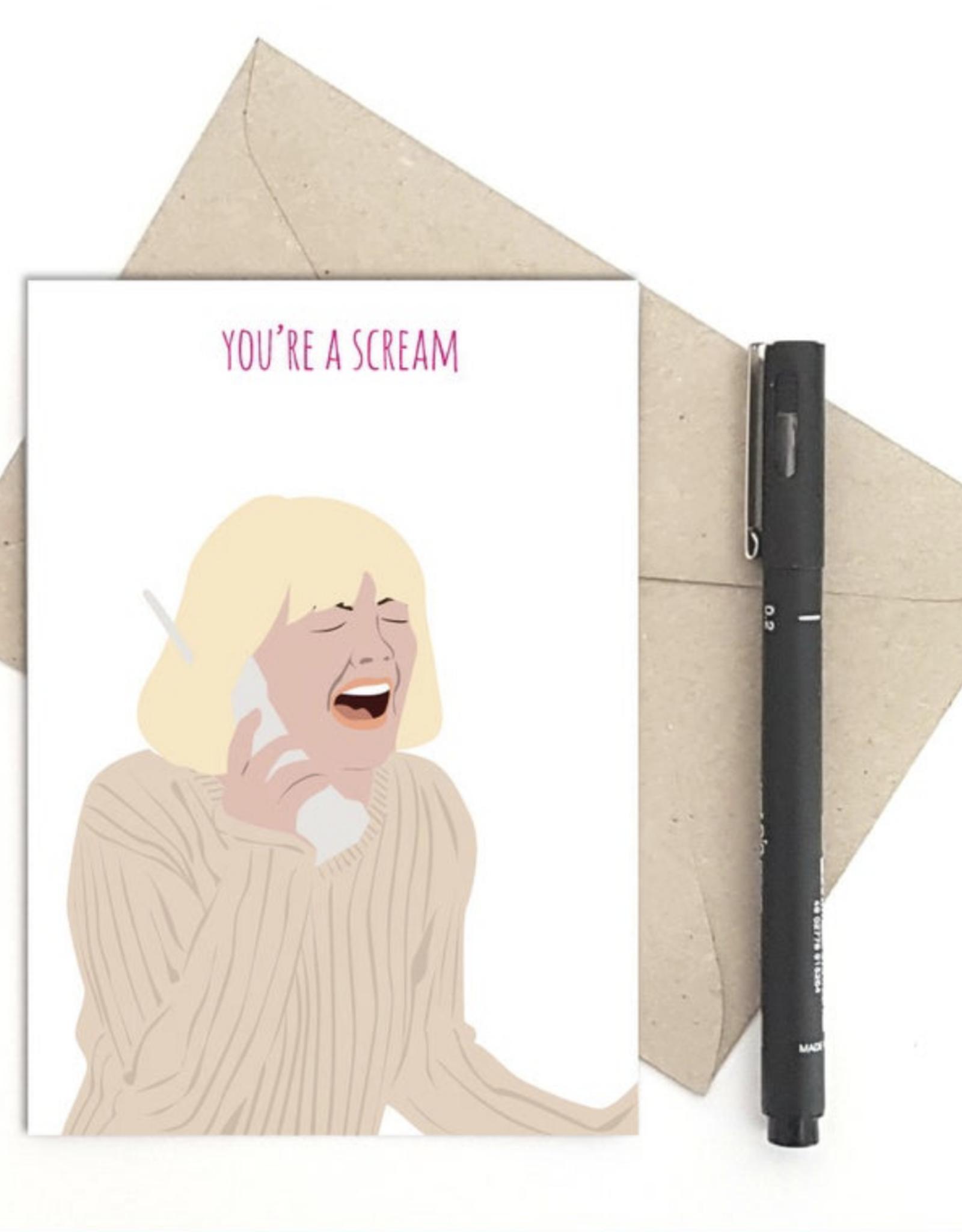 You're a Scream (Scream) Greeting Card