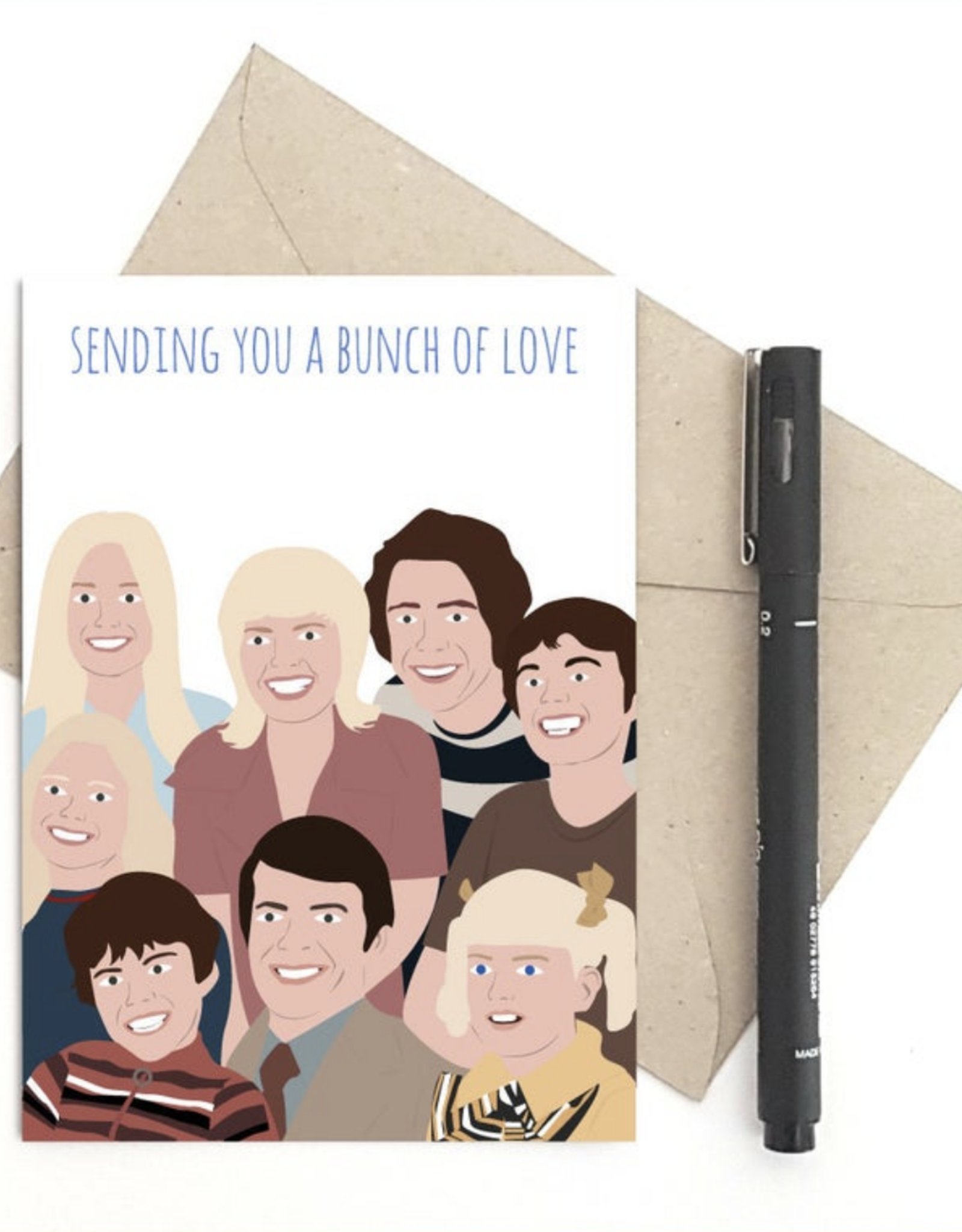 Sending You a Bunch of Love (Brady Bunch) Greeting Card